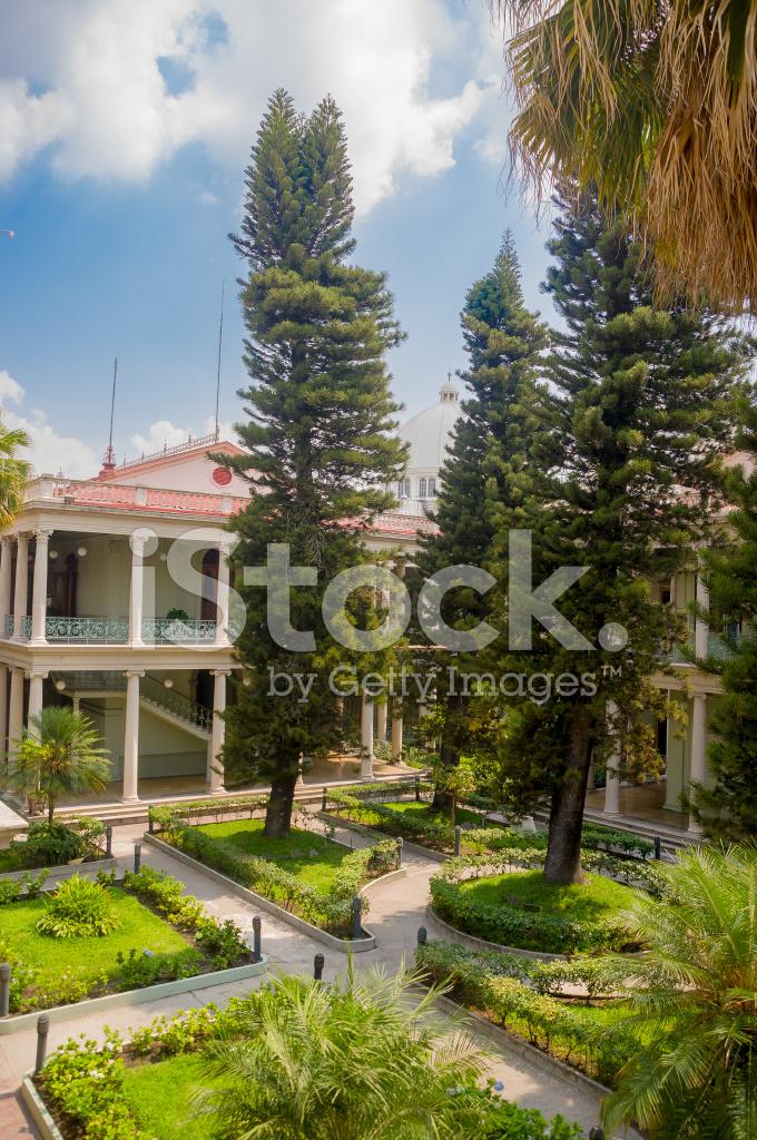 Presidential Palace During Renovations, El Salvador Stock ...