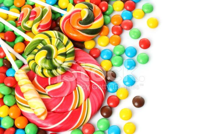 sucette spirale colore avec des bonbons enrobs chocolat - Sucette Colore