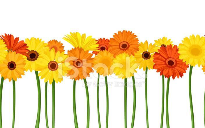 Horizontal Fond Transparent Avec Fleurs DE Vecteur Illu