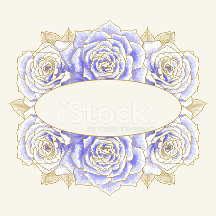 Sfondo Romantico Con Rose Blu Stock Vector Freeimagescom