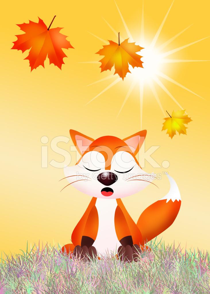 Cartone animato volpe rossa stock vector freeimages.com