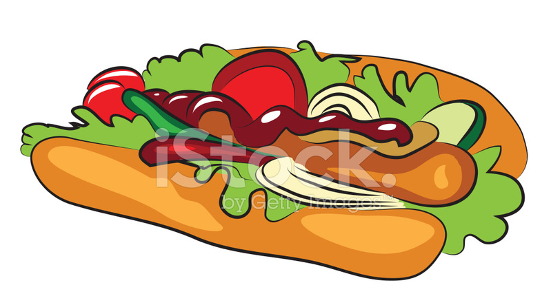 Cartoon Hot Dog Stock Vector Freeimagescom