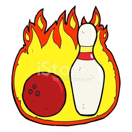 Dix goupille bowling symbole de dessin anim avec le feu photos - Bowling dessin ...