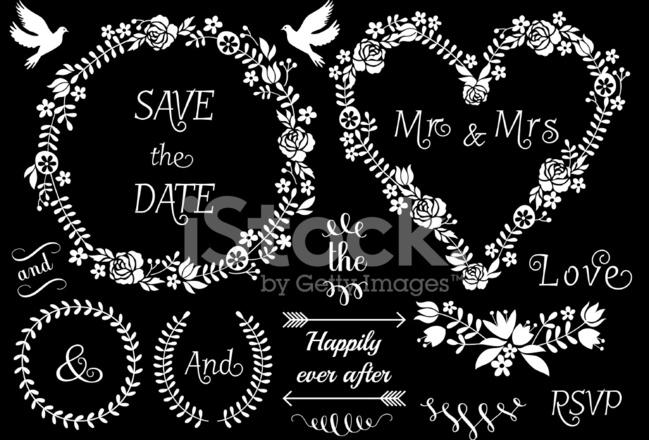 Blumen Hochzeit Bilder Vektor Gruppe Stock Vector Freeimages Com