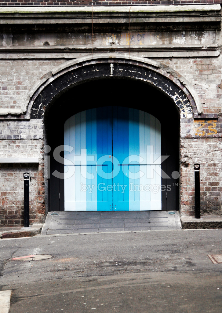 Colourful Door In Brick Wall Stock Photos Freeimages Com