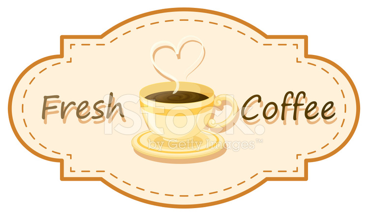 Fresh Coffee Logo With A Cup Of Brewed