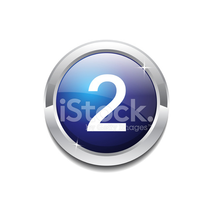 2 Number Circular Vector Blue Web Icon Button Stock Vector ...