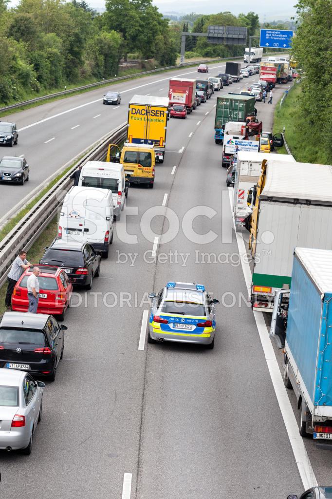 embouteillage voiture de police allemande photos. Black Bedroom Furniture Sets. Home Design Ideas