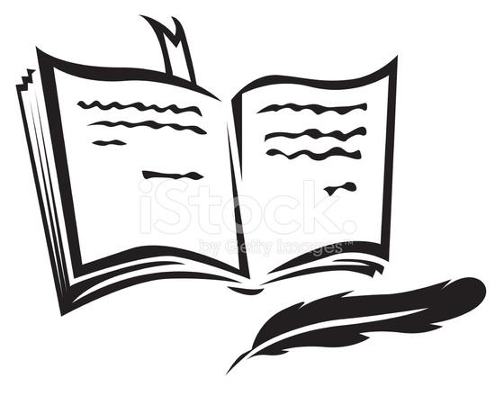 Libro Y Pluma Stock Vector - FreeImages.com
