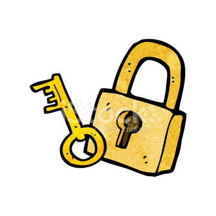 cartoon padlock and key stock vector freeimagescom