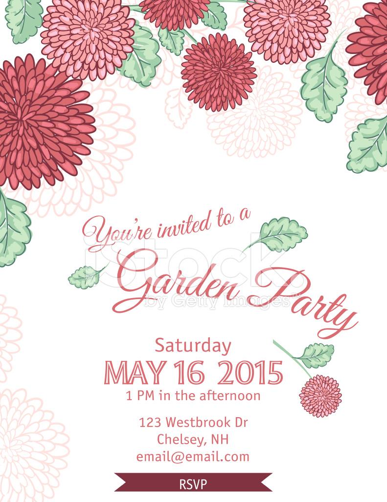 Garden Party Invitation Template Stock Vector FreeImagescom