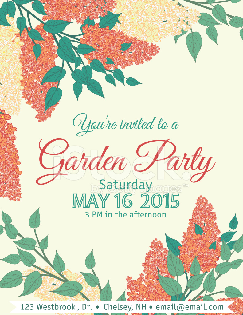 Garden Party Invitation Template Stock Vector - FreeImages.com
