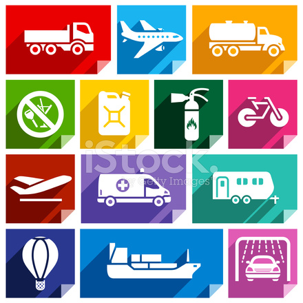Transport Flach Symbol, Helle Farbe 02 Stock Vector - FreeImages.com