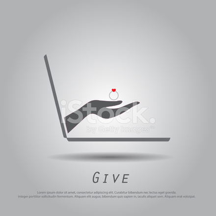 Hand Hold Laptop Vector Icon Stock Vector - FreeImages com