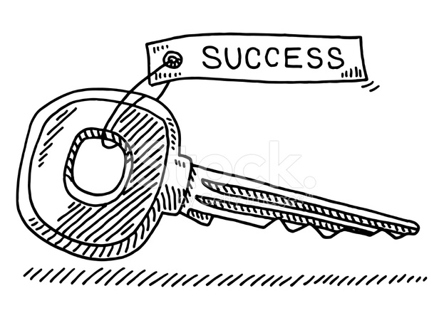 D Line Drawings Key : Key success drawing stock vector freeimages