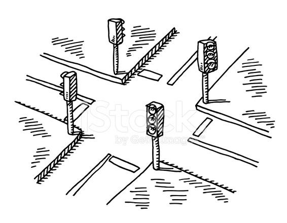 Cruce DE Los Semforos DE Dibujo fotografas de stock  FreeImagescom