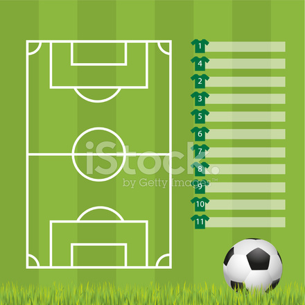 football formation template stock vector freeimages com