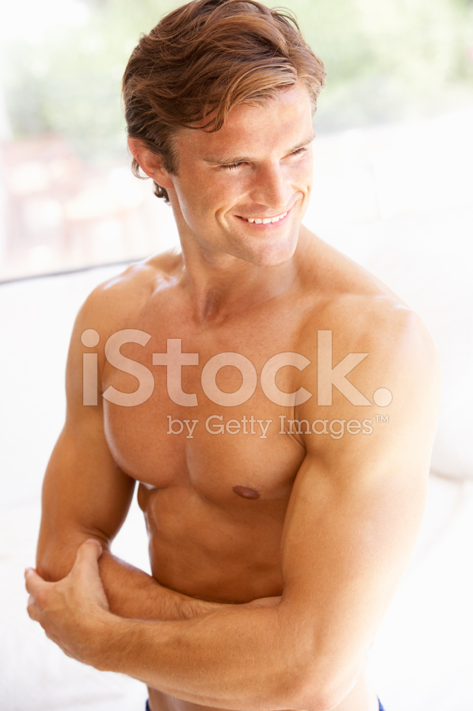 Portrait Of Bare Muscular Torso Young Man Stock Photos Freeimages