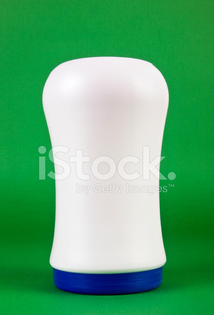 Bottiglia Grande Isolato Su Sfondo Verde Fotografie Stock