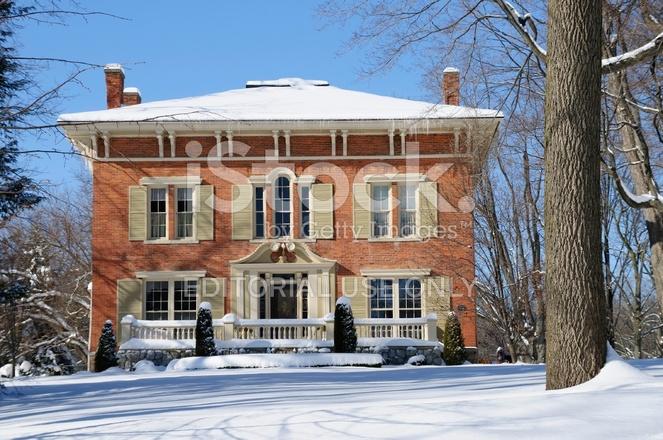 Karlı Ev Romeo Michigan Stok Fotoğrafları Freeimagescom
