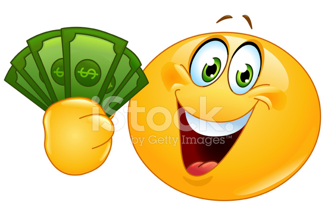Emoticon With Dollars