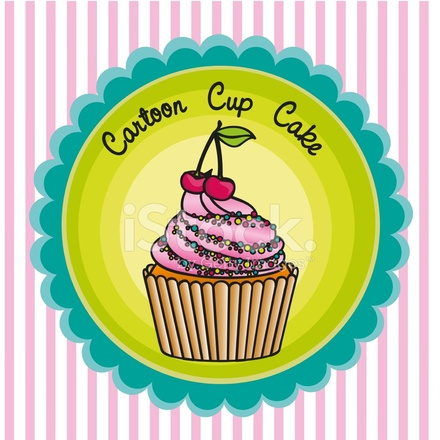 Cupcake De Dibujos Animados Stock Vector Freeimagescom