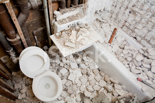Ristrutturazione E Demolizione Bagno Fotografie stock - FreeImages.com