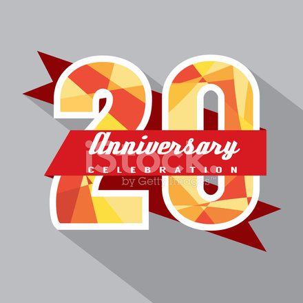 20 Years Anniversary Celebration Design