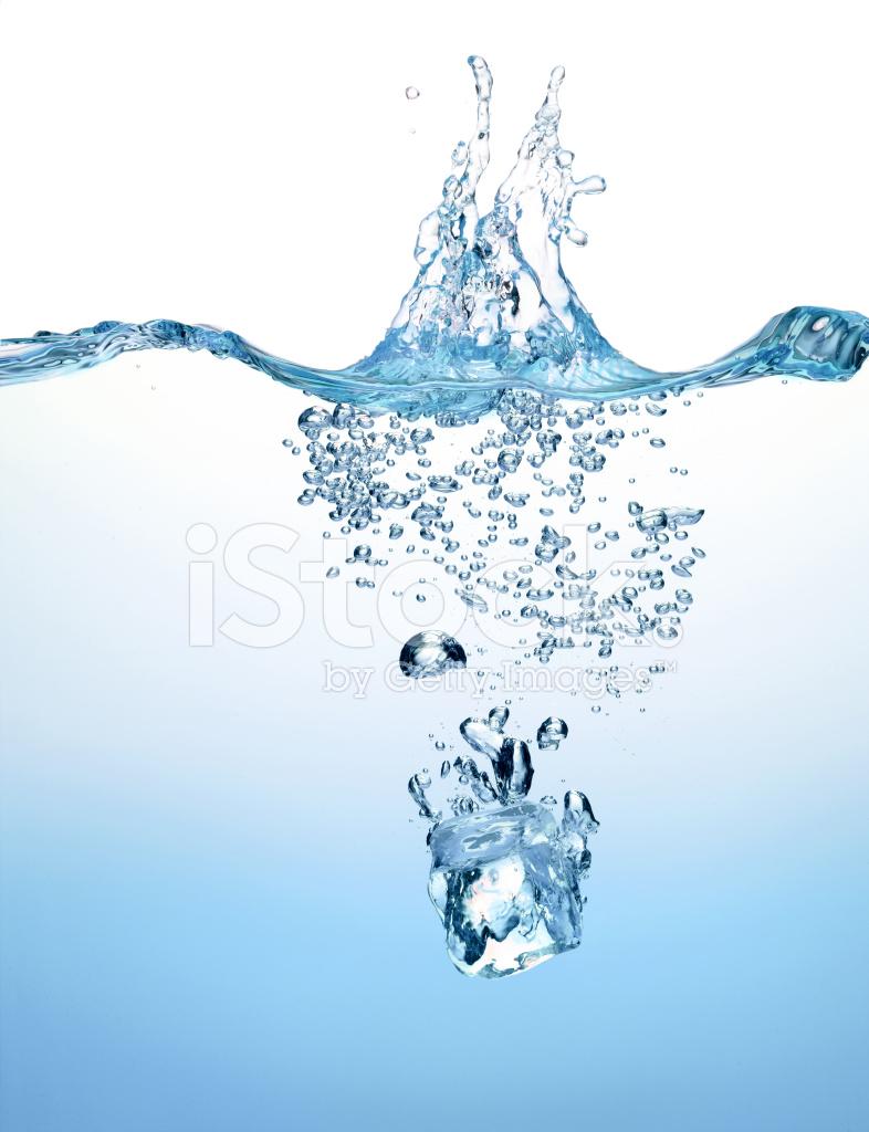 Premium Stock Photo Of Splashing Ice Cube