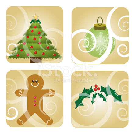 Christmas Elements With Transparent Swirls