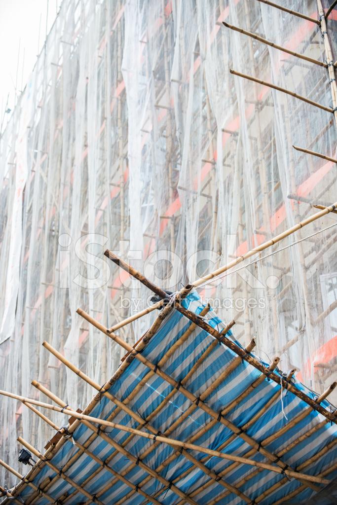Bambus Gerust Fur Baustelle Hong Kong Stockfotos Freeimages Com