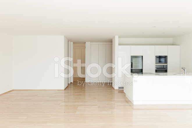 Beautiful Empty Apartment Modern Kitchen