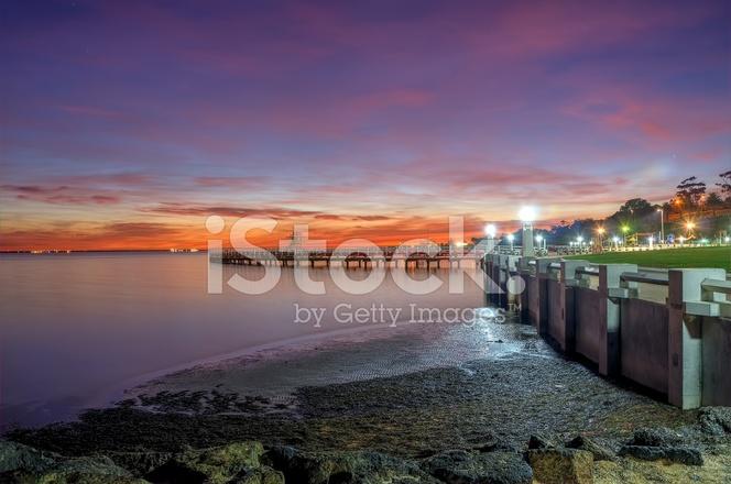 Sunrise over east beach on saturday morning