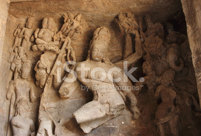 Ancient Carving Of Hindu God Shiva In Elephanta Cave Stock Photos Freeimages Com