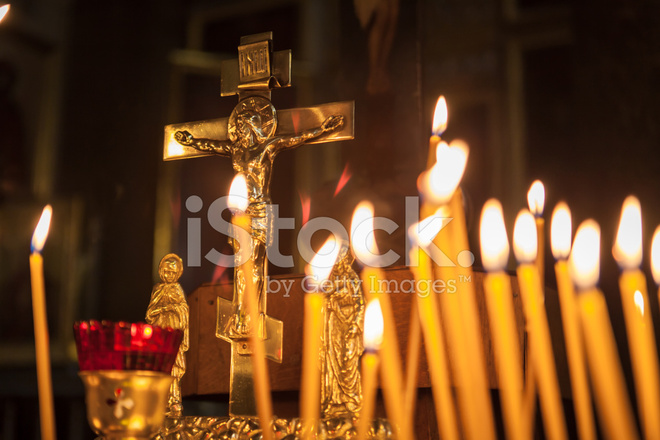 Candles IN Kazan Cathedral Stock Photos - FreeImages com