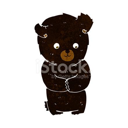 Cartone animato carino orso nero stock vector freeimages