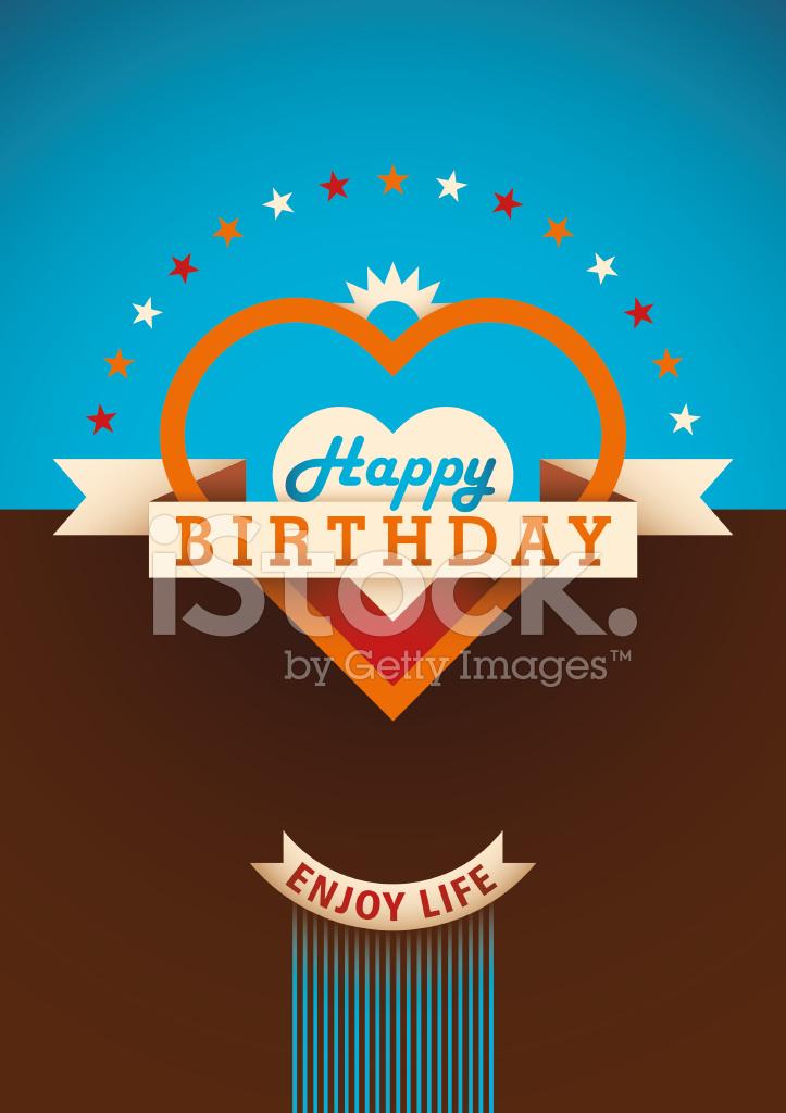 Modern Birthday Card Stock Vector Freeimages
