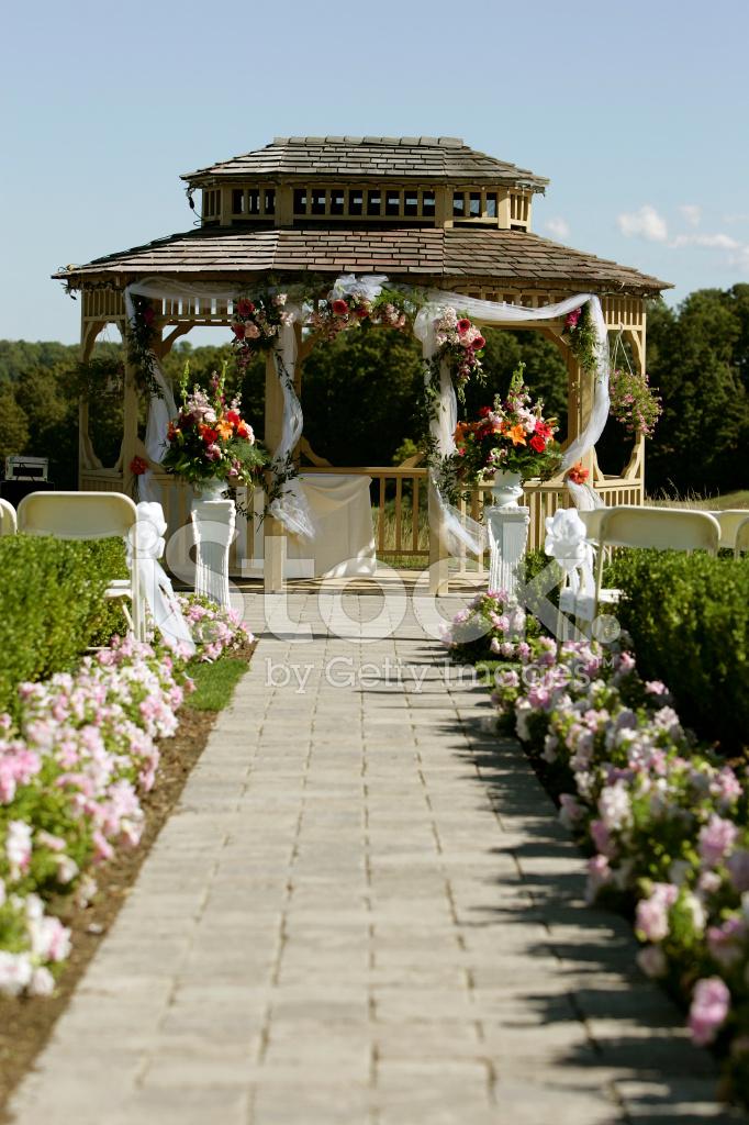 Outdoor Wedding Gazebo Stock Photos Freeimages