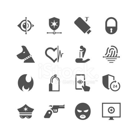Home security care icon set unique series stock vector for Unique home care