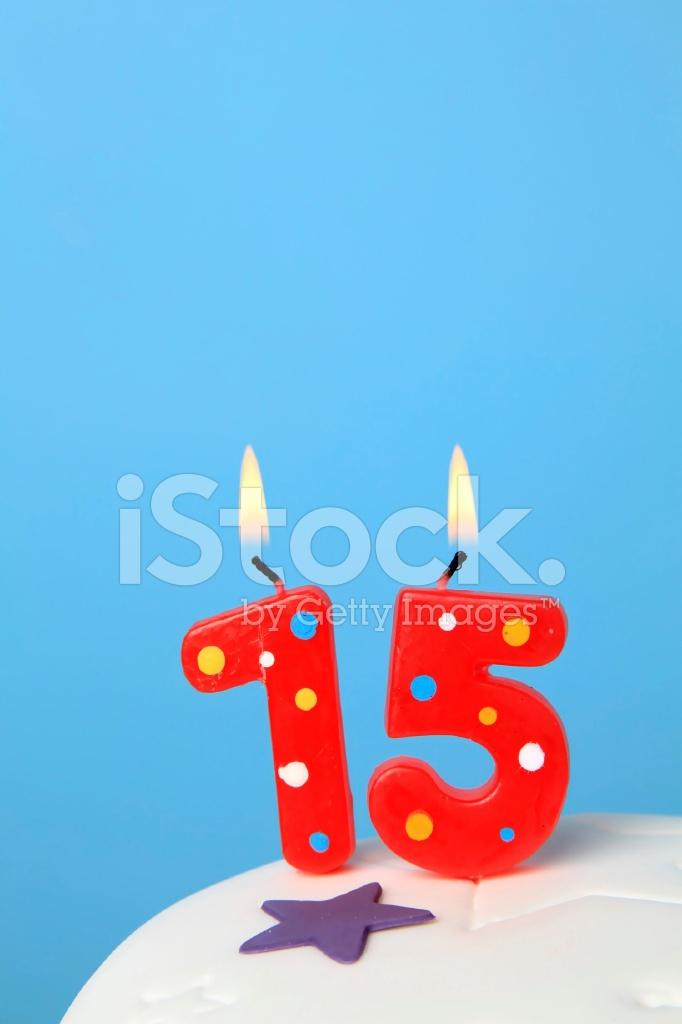 15 Birthday Candles Stock Photos