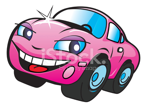 Pink Panther Driving Car