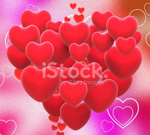 Corazón Hecho Con Espectáculos De Corazones De San Valentín O Amante