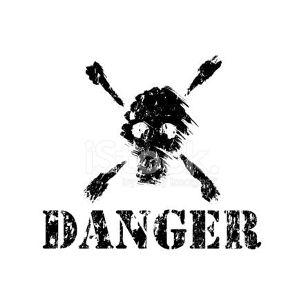 Calavera Para Banderas Piratas Veneno DE fotografas de stock