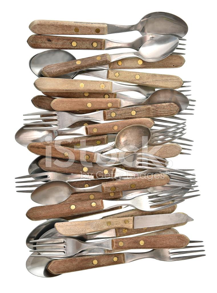Coutellerie cuill re fourchette et couteau d 39 ustensiles for Ustensiles de cuisine retro