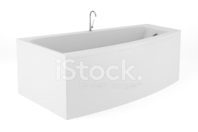 Vasca Da Bagno White : Vasca da bagno moderna isolata on white background fotografie stock