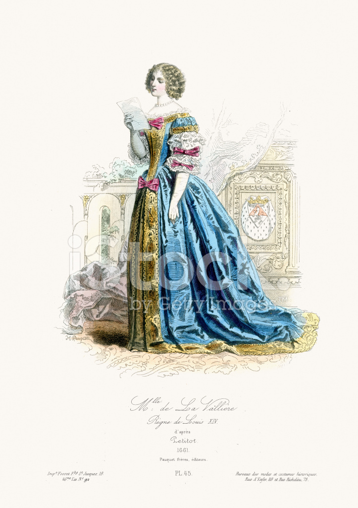 Renaissance Fashion Louise DE LA Valliere Stock Vector