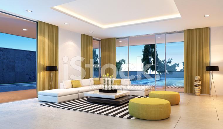 Moderne villa interior stockfotos freeimages.com