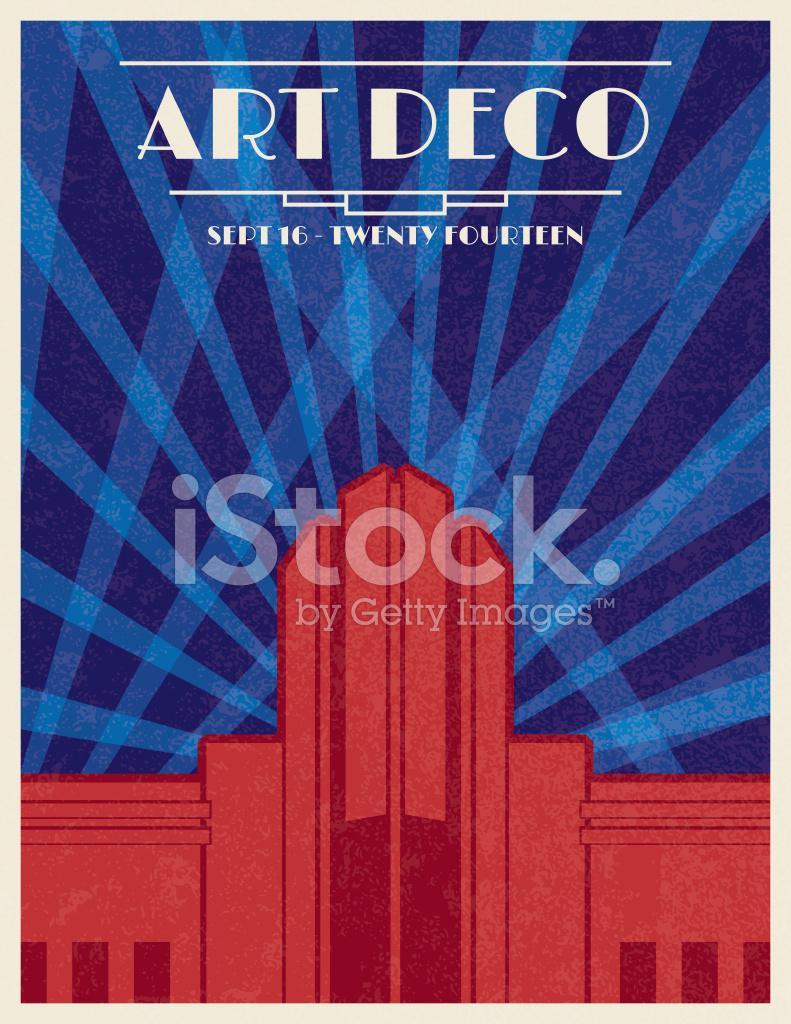 Deco Architektur deco architektur poster stock vector freeimages com