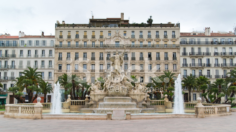 fountain of liberty square in toulon stock photos. Black Bedroom Furniture Sets. Home Design Ideas
