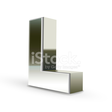 3d silver steel letter l stock vector freeimages com 3d silver steel letter l stock vector